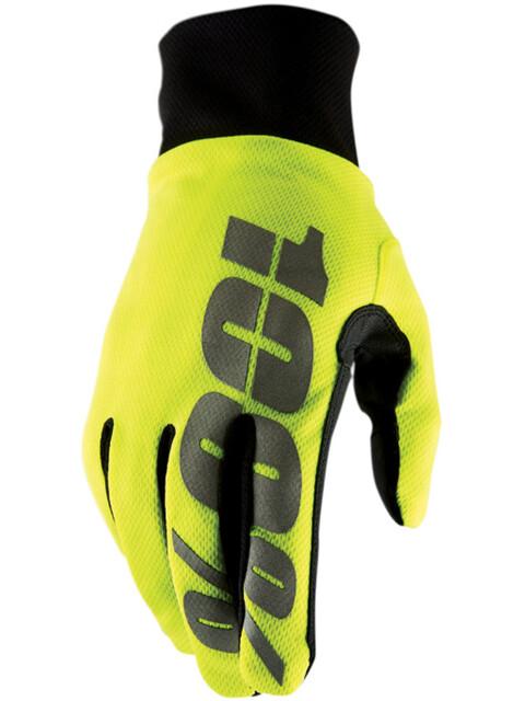100% Hydromatic Waterproof Cykelhandsker gul/sort